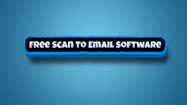 Free Scan To Email Software