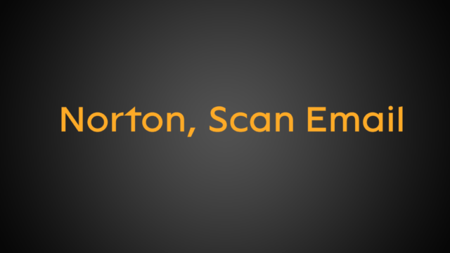 Norton, Scan Email