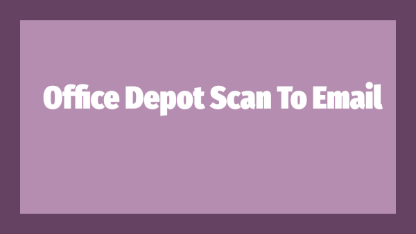 Office Depot Scan To Email